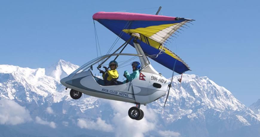 Ultra Light Flight in pokhara